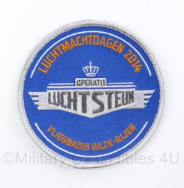 KLU Koninklijke Luchtmacht embleem met klittenband Luchtmachtdagen 2014 Vliegbasis Gilze-Rijen - Operatie Luchtsteun - diameter 10 cm - origineel
