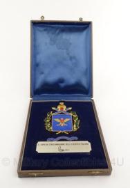 Italiaanse onbekende onderscheiding  in doosje il capo di stato maggiore dell'esercito - 20 x 16 cm - origineel