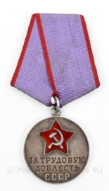 Russische USSR  CCCP Zilveren medaille for Labour Valour  - origineel