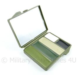 US Army Bobbie Weiner camo face paint schmink doosje groen met spiegeltje - 10 x 7,5 x 1,5 cm - NIEUW - origineel