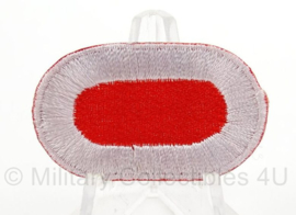 WO2 US Oval wing klein formaat - rood met witte rand - afmeting 2,5 x 4 cm - replica