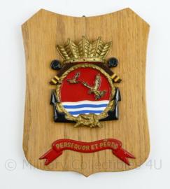 Wandbord Marine Vliegkamp Valkenburg Squadron V - 18,5 x 14,5 x 1 cm - origineel