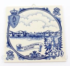 Kmar Koninklijke Marechaussee Koning Willem 3 Kazerne Apeldoorn wand tegel - 15 x 15,5 cm - origneel