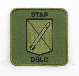 KLu Luchtmacht embleem STAF DGLC Defensie Grondgebonden LuchtverdedigingsCommando - met klittenband - afmeting 5,5 x 5,5 cm - origineel