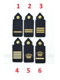 Nederlandse Politie epauletten met rangen PAAR - huidig model - aspirant tm. Hoofdagent - origineel