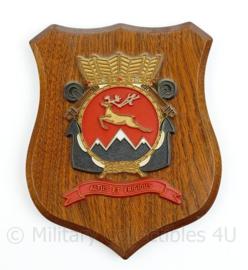 Wandbord Korps Mariniers Altus Et Frigidus Whiskey Infanterie Compagnie - 17,5 x 14,5 x 1,5 cm - origineel