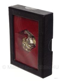 USMC US Marine Corps Silver/Gold two tone cap badge in geschenk- of displaydoosje