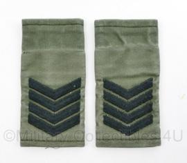 Korps Mariniers GVT epauletten paar - rang Sergeant Majoor - origineel