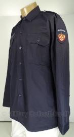 NL Militaire Brandweer overhemd met 2 insignes- 9010/1015 origineel