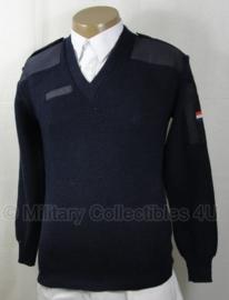 KLU luchtmacht trui met V hals donkerblauw wol - maat 3xl - origineel