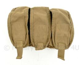 US Army en Korps Mariniers Triple M4 mag pouch coyote - voor 9 magazijnen! -  17 x 25 x 7,5 cm - origineel