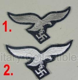 Luftwaffe Borstadelaar - manschappen - wit of grijs op blauwe ondergrond
