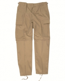 Afritsbroek ZIP-OFF Field trousers - khaki - maat Large - SHOWMODEL