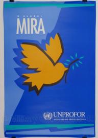 UN United Nations leger kaart Unprofor MIRA - 70 x 47 cm - origineel
