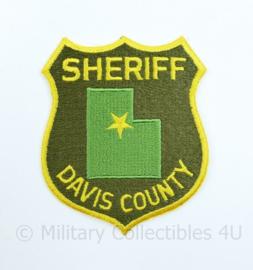 Sheriff Davis County embleem  - 12 x 9,5 cm - origineel