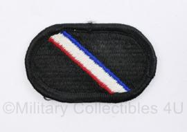 US Army naoorlogse oval wing voor op de borst onbekend- zwart rood wit blauw - origineel