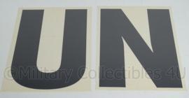 United Nations UN Voertuig Stickerset - 21 x 16 cm - origineel