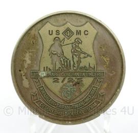 USMC US Marine Corps Semper Fidelis - genummerde oplage van 25 stuks - diameter 4 cm - origineel