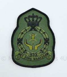 KLU Luchtmacht RNLAF 933 Squadron embleem - met zorg waakzaam - met klittenband - 11 x 8 cm - origineel