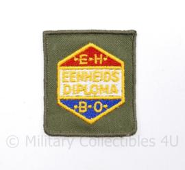 Defensie eenheidsdiploma EHBO GVT - 5 x 5 cm - origineel