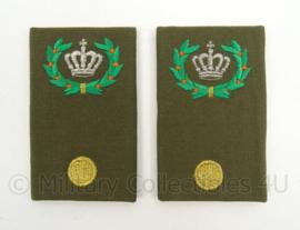 KL Landmacht epauletten rang Adjudant Compagnie - per paar - afmeting 5 x 9 cm - origineel