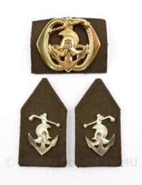 Defensie baret en kraag insigne set Pontonniers - 3 delige set - origineel