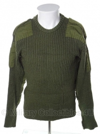 Commando trui Deense leger  - echt wol! - maat medium - GROEN origineel