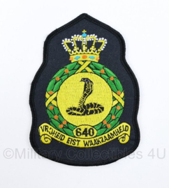 Klu Luchtmacht 640 Squadron embleem - 11,5 x 8 cm - origineel