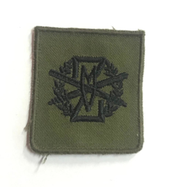 Zware Militaire Lichamelijk Vaardigheid stoffen embleem ZMLV - 4,5 x 5 cm - origineel