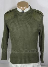 KL leger wollen Commando trui groen - ronde hals - meerdere maten - origineel