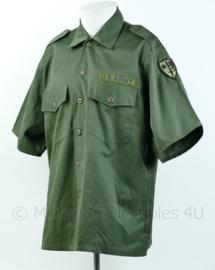 Us Army OD Shirt overhemd korte mouw met insignes - maat 16,5  = 43 - origineel