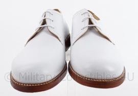 """KM Koninklijke Marine Tropen schoenen wit """"Defensie"""" Leren zool , rubber inzet- zeldzaam - nieuw  - maat 42 tm. 45 !  - origineel"""