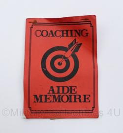 Korps Mariniers coaching Aide Memoire MOC 1997 - origineel