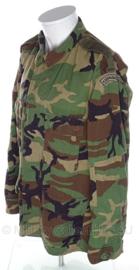 Korps Mariniers woodland uniform - vorig model - Medium Regular , Medium Long of Large Long - met straatnaam - NIEUW - origineel