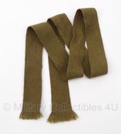 Antieke leger stropdas donker groen/bruin - origineel