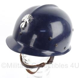 Franse Gendarmerie helm - blauw met insigne voorop - origineel