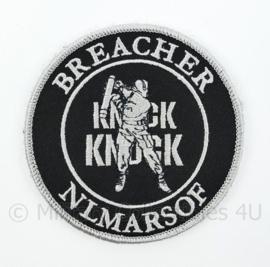 Korps Mariniers Breacher NLMARSOF Knock Knock embleem - met klittenband - diameter 9 cm
