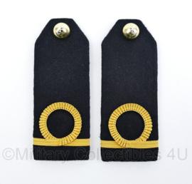 Korps Mariniers epauletten schouderstukken set - Adjudant der Mariniers - origineel