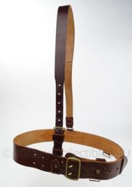 Sam Brown Belt MVO Nederlandse Leger - bruin leder - 85 cm - origineel