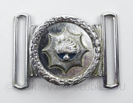 Korps Rijkspolitie koppel sluiting/gesp set - afmeting 5 x 7,5 cm - origineel