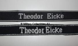 SS cufftitle Theodor Eicke - SS Pz.Gren. Regt. 6 Totenkopf