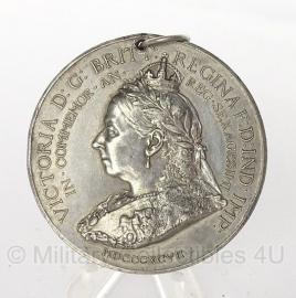 Medaille  Victoria BG Britt Regina FD IND IMP In Commemor  1837-1897 -   origineel
