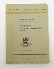KL Landmacht handboek voor de chauffeur 1960 - VS2-1360 - origineel