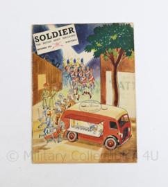 The British Army Magazine Soldier September 1954 -  Afkomstig uit de Nederlandse MVO bibliotheek - 30 x 22 cm - origineel