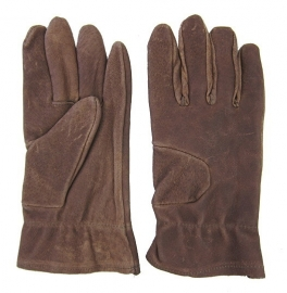 Handschoen bruin leder - maat Small - origineel leger