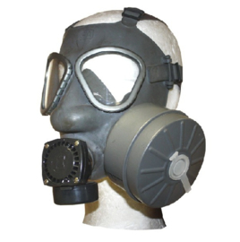 Fins leger gasmasker met filter ONGEBRUIKT - lijkt op US Army M9 model - origineel