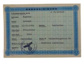 Stalag tewerkstelling - Nederlandse krijgsgevangene - Lodewijk Rijpkema Amsterdam