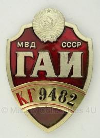 """Russian Highway Patrol politie badge """"9482""""- origineel"""