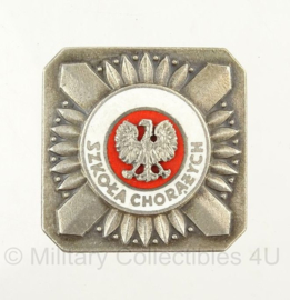Poolse Military School speld - Radio Engineering Qualification Badge - 3,5 x 3,5 cm - origineel
