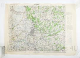 Wo2 Britse War Office Stafkaart van Antwerpen uit 1945 - Schaal 1:100000 -  63 x 88 cm - origineel